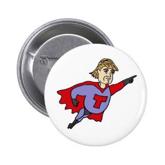 Bande dessinée drôle de superhéros de Donald Trump Badge Rond 5 Cm