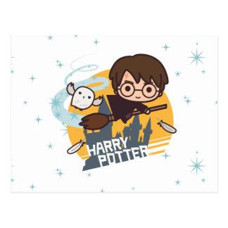 Bande dessinée Harry et vol de Hedwig après Carte Postale