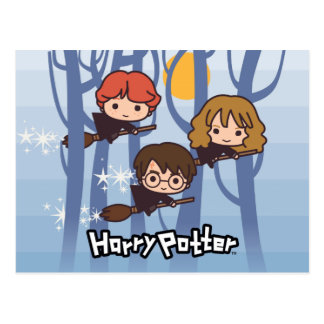 Bande dessinée Harry, Ron, et vol de Hermione en Carte Postale