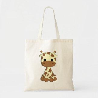 Bande dessinée mignonne de girafe de bébé sac en toile budget