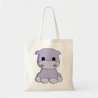 Bande dessinée mignonne d'hippopotame de bébé sac en toile budget