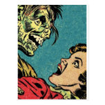 bande dessinée vintage villan cartes postales