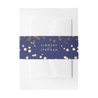 Bandeau De Faire-part Épouser élégant de points de confettis d'or et de