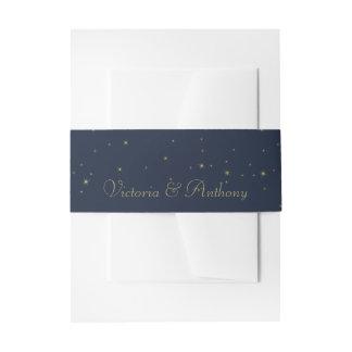 Bandeau De Faire-part Épouser élégant d'étoiles filantes de marine et