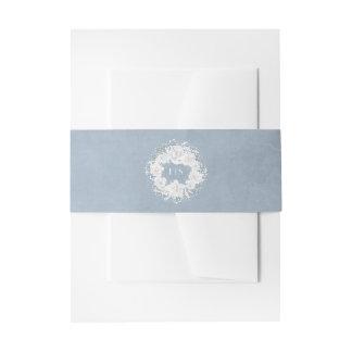 Bandeaux De Faire-part Guirlande florale poussiéreuse de souffle de bleu