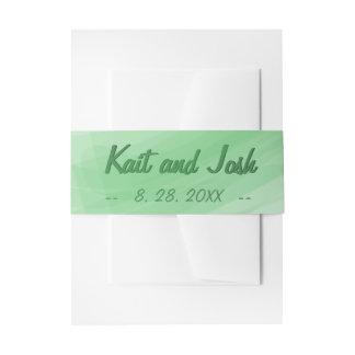Bandeaux De Faire-part Mariage élégant minimaliste à la mode de vert de