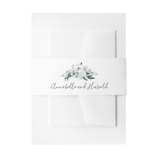 Bandeaux De Faire-part Mariage floral blanc de verdure
