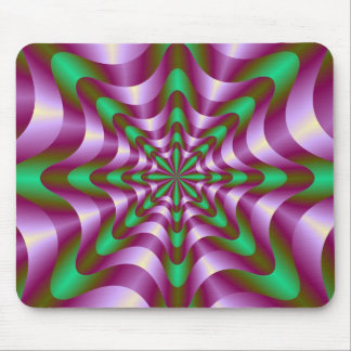 Bänder in lila und grünem Mousepad