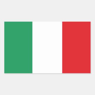 Bandiera De Italie   d'Adesivo d'autocollant de Sticker Rectangulaire