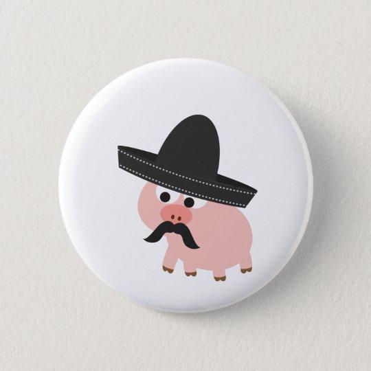 Bandito Schwein Runder Button 5,1 Cm