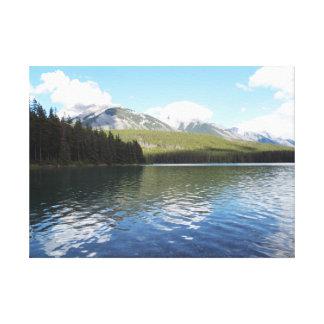 Banff-GebirgsLeinwand Leinwanddruck