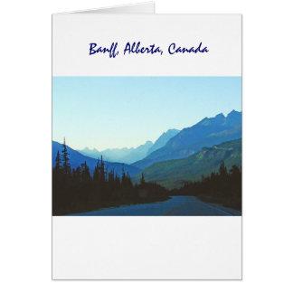Banff-Jaspis-Blau Grußkarte