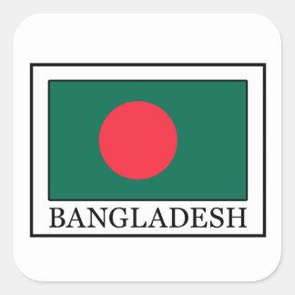 Bangladesch-Aufkleber Quadratischer Aufkleber