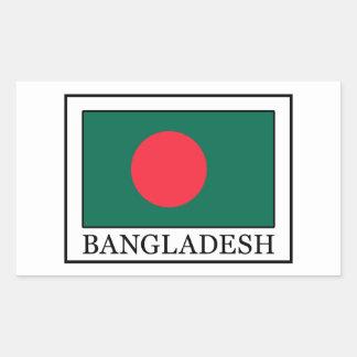 Bangladesch-Aufkleber Rechteckiger Aufkleber