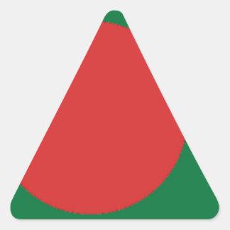 Bangladesch-Flagge Dreieckiger Aufkleber