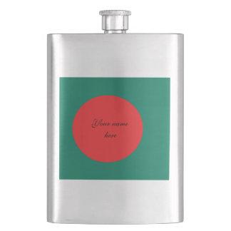 Bangladesch-Flagge Flachmann
