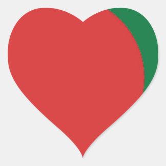 Bangladesch-Flagge Herz-Aufkleber