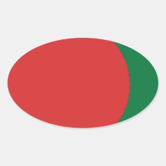 Bangladesch-Flagge Ovaler Aufkleber