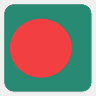 Bangladesch-Flagge Quadratischer Aufkleber