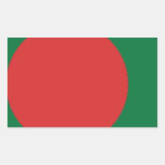 Bangladesch-Flagge Rechteckiger Aufkleber