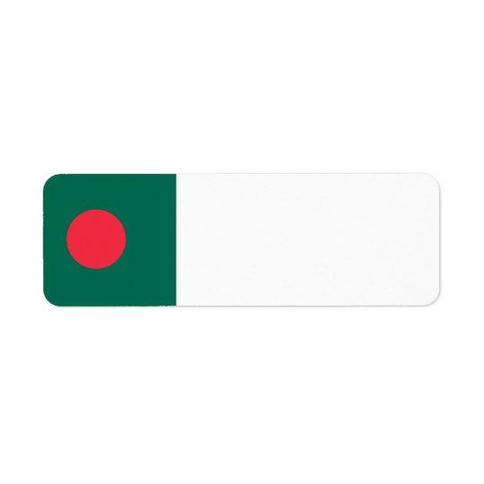 Bangladesch-Flagge Rücksende Aufkleber