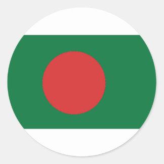 Bangladesch-Flagge Runder Aufkleber