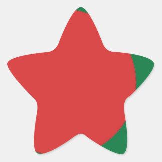 Bangladesch-Flagge Stern-Aufkleber