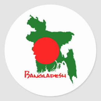 Bangladesch Map Runder Aufkleber