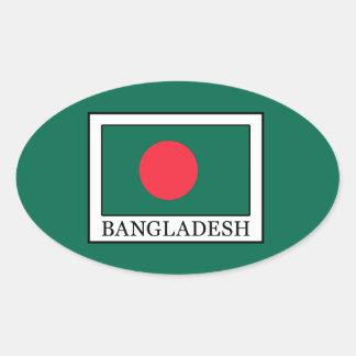 Bangladesch Ovaler Aufkleber