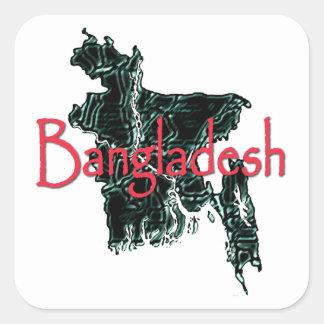 Bangladesch Quadratischer Aufkleber