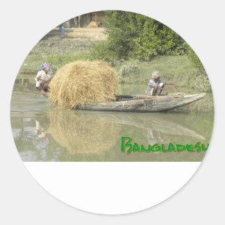 Bangladesch-Reisboot Runder Aufkleber