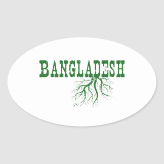 Bangladesch-Wurzeln Ovaler Aufkleber