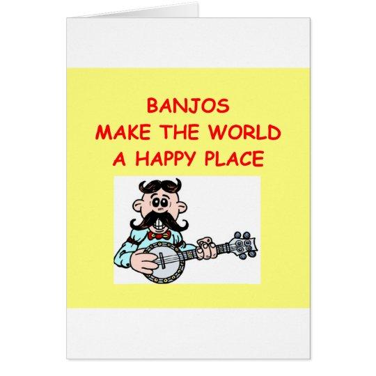 Banjos Grußkarte