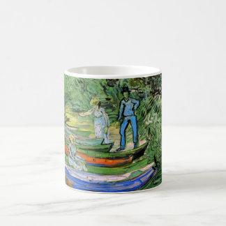 Bank des Oises bei Auvers durch Vincent van Gogh Kaffeetasse