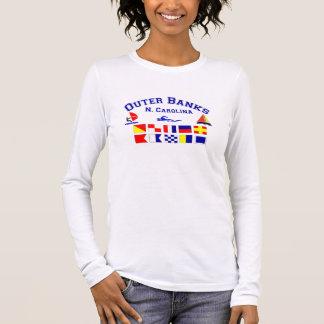 Bank-Signal-Flaggen NC äußere Langarm T-Shirt