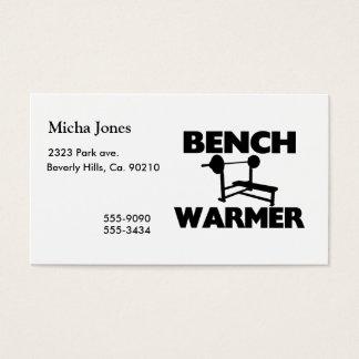 Bank-Wärmer Visitenkarte