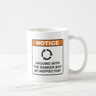 Banker/argumentieren Kaffeetasse
