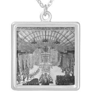 Bankett im Romer Hall in Frankfurt am Main Halskette Mit Quadratischem Anhänger