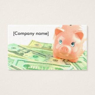 Bankwesen-Visitenkarte Visitenkarte