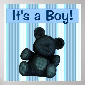 Bannière/affiche de baby shower personnalisable c'