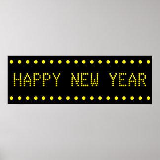 Bannière de bonne année poster
