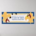 Bannière d'obtention du diplôme de Fleur de Lis Cr Posters