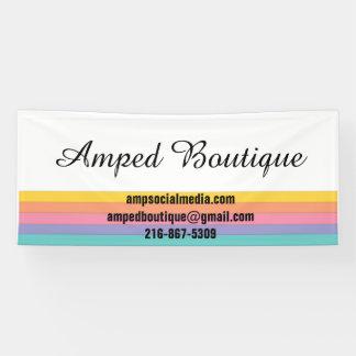 Bannière pour des détaillants de mode