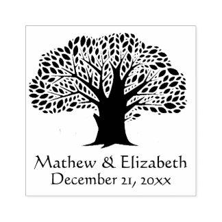 Banyanbaum-rustikale Hochzeit im Freien Gummistempel