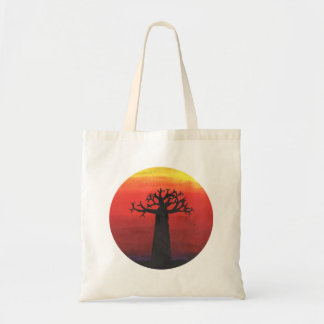 Baobab-Sonnenuntergang Tragetasche