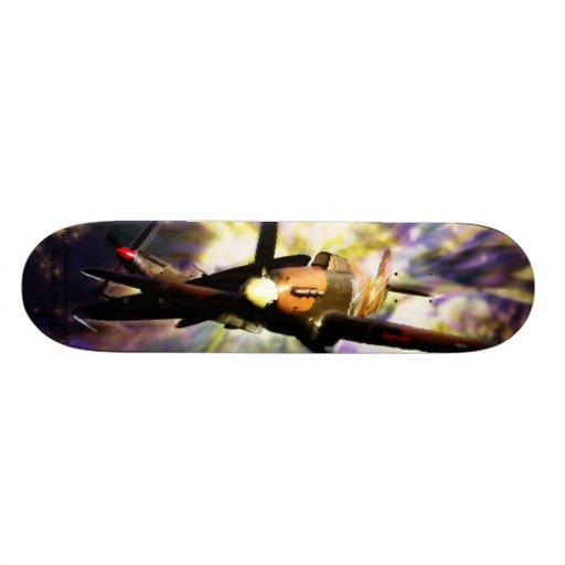 Baptême de planche à roulettes du feu skateboards personnalisés