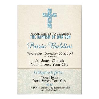 Baptême, invitation de baptême pour le GARÇON