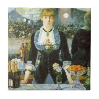 Bar beim Folies Bergere durch Manet, Vintage Kunst Keramikfliese