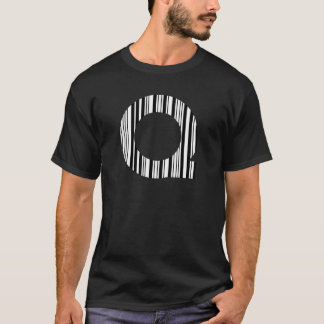 BAR-CODE des BUCHSTABE-Q erstes T-Shirt