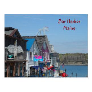 Bar-Hafen, Maine Postkarte